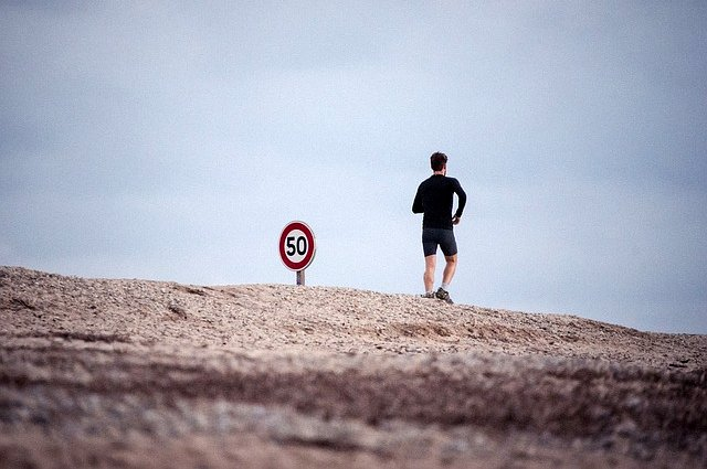 Uomo jogging